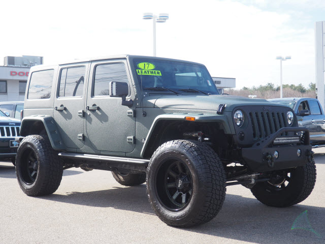 Jeep Rubicon 2017 Tuning >> Certified Pre-Owned 2017 Jeep Wrangler Unlimited Jfj Customs 4x4 Rubicon Hard Rock 4dr SUV in ...
